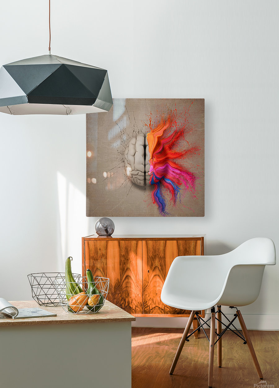 The Creative Brain  HD Metal print with Floating Frame on Back