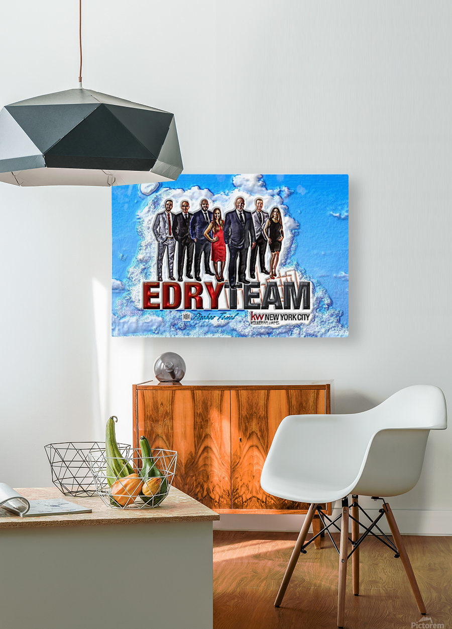 Art   Photo  EDRY team 1  HD Metal print with Floating Frame on Back
