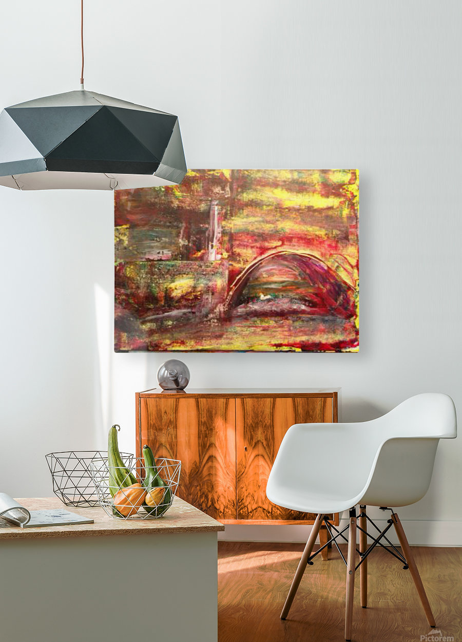 water under the bridge  HD Metal print with Floating Frame on Back