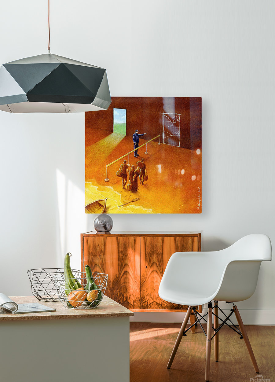 refugees  HD Metal print with Floating Frame on Back