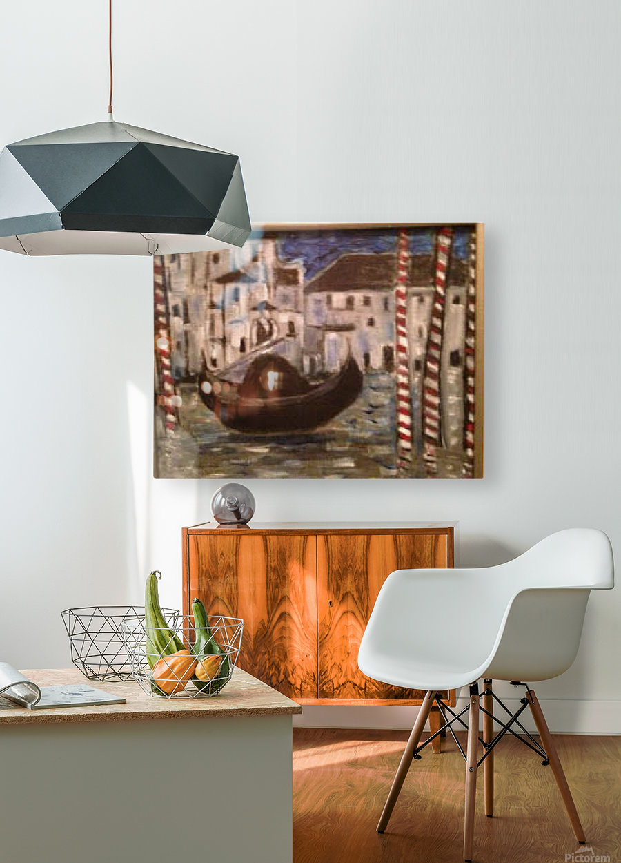 Gondola  HD Metal print with Floating Frame on Back