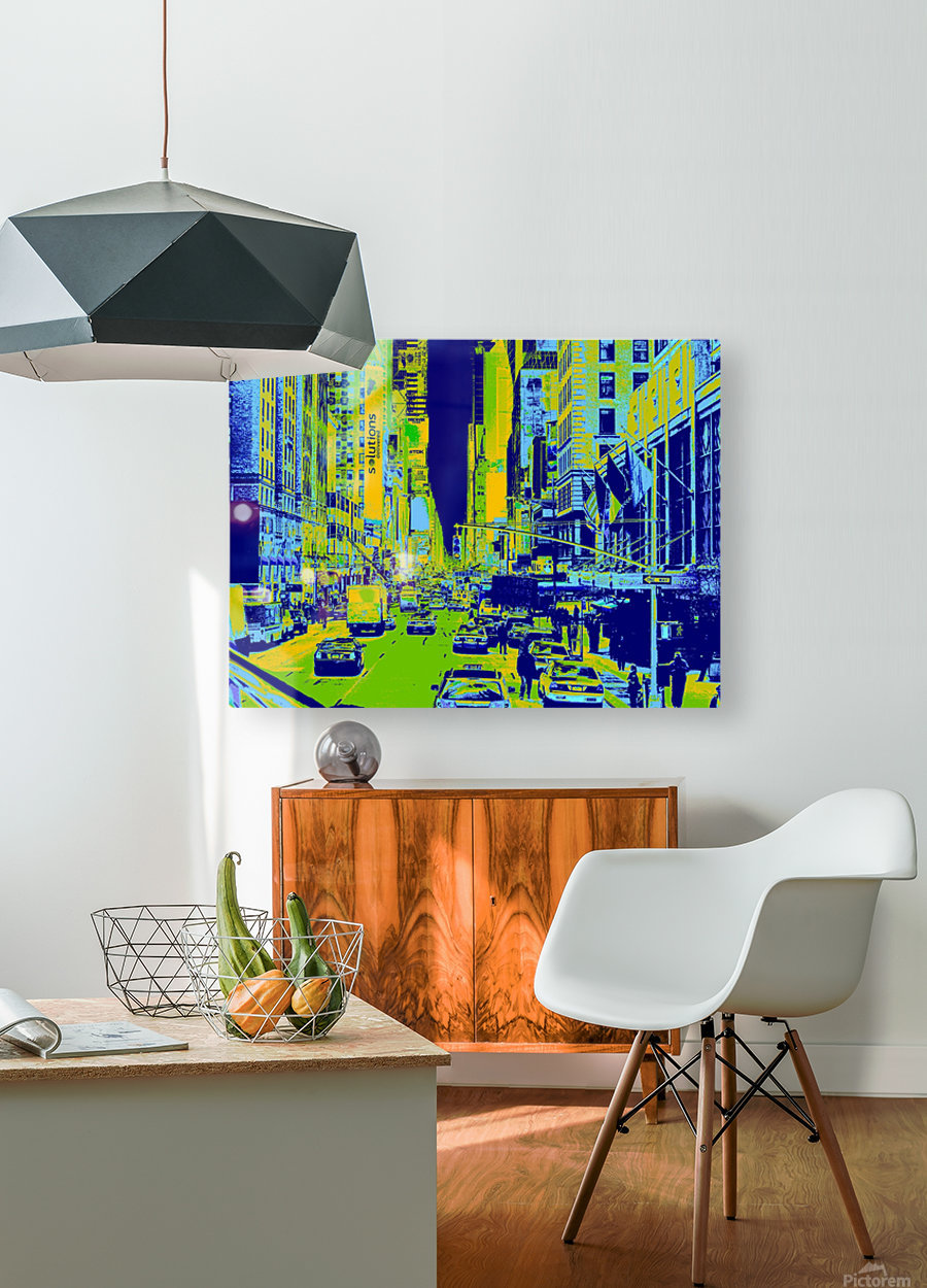 Madison Ave  HD Metal print with Floating Frame on Back
