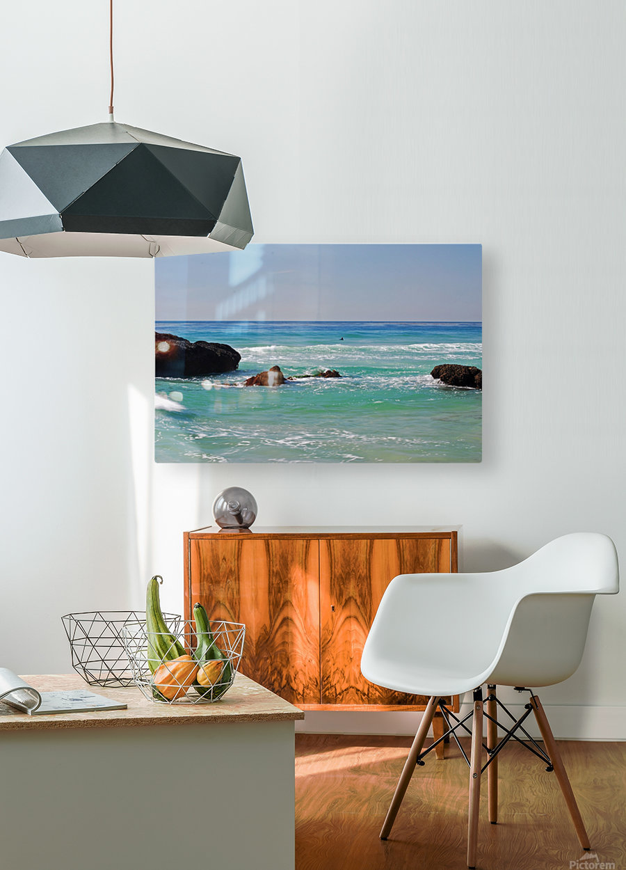 Ocean by Dana Point CA  HD Metal print with Floating Frame on Back