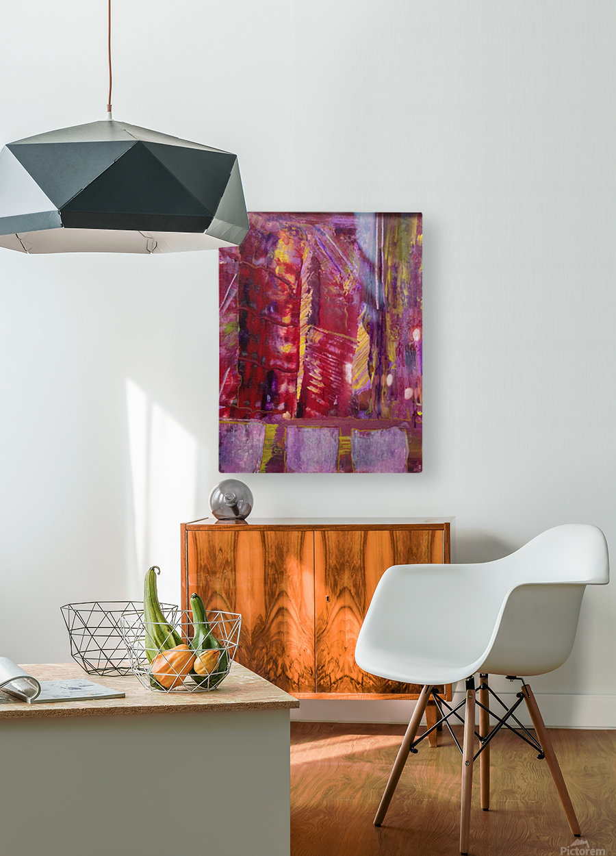 Change is Inevitable Abstract Painting  HD Metal print with Floating Frame on Back