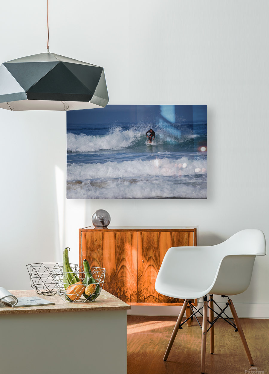 Dana Point surfer  HD Metal print with Floating Frame on Back