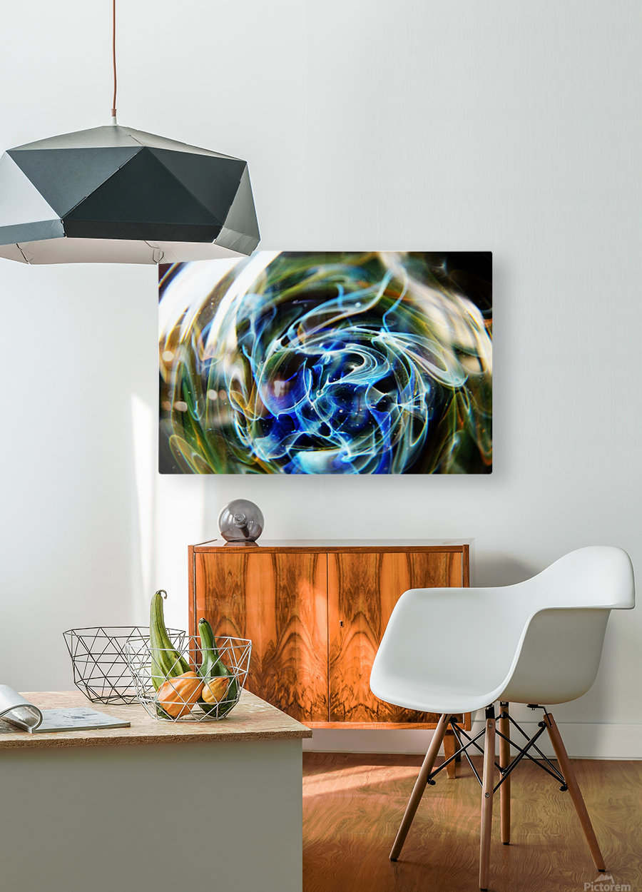 GalaxyInGlassV002  HD Metal print with Floating Frame on Back