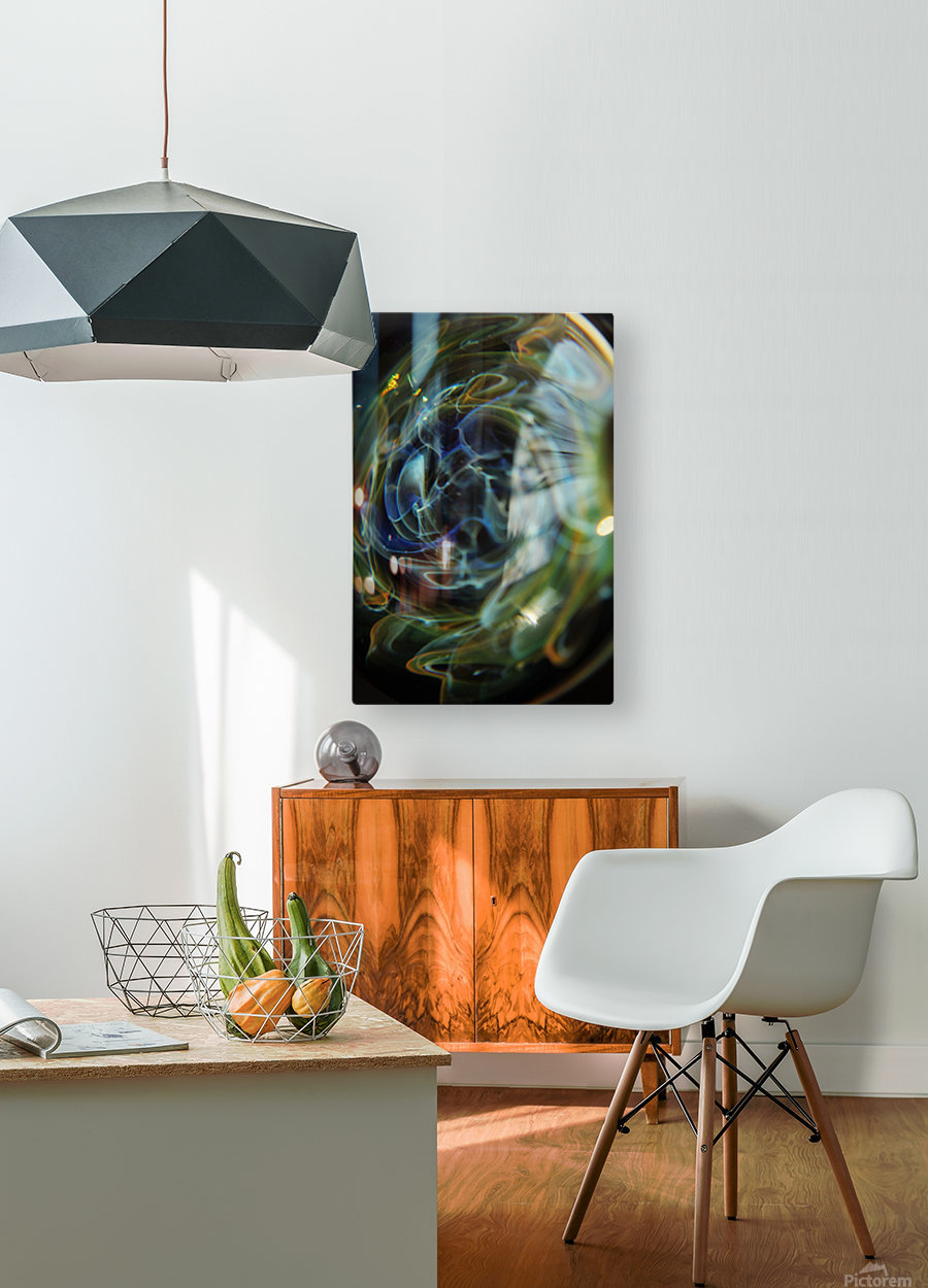 GalaxyInGlassV001  HD Metal print with Floating Frame on Back