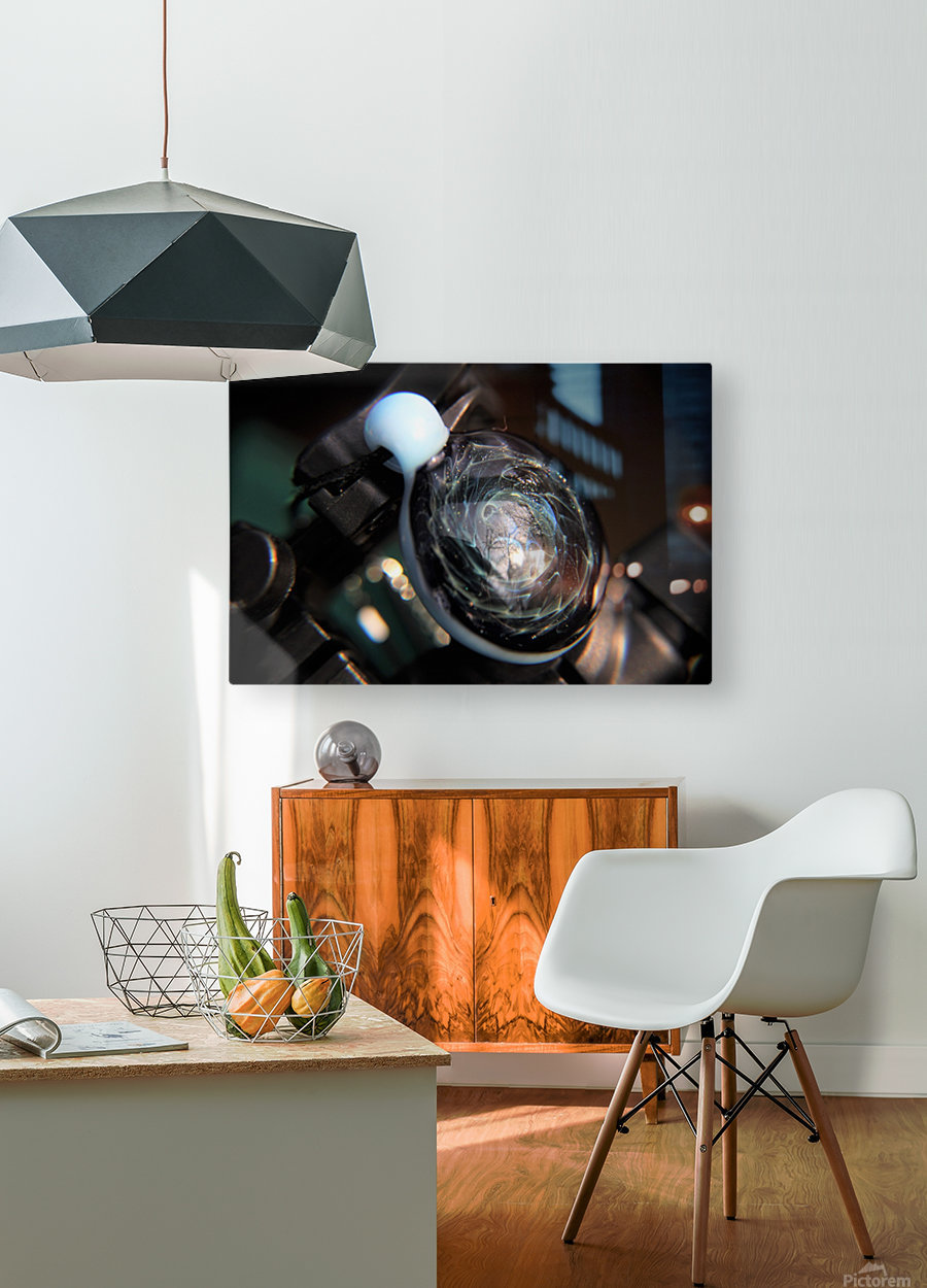 ReflectionInGlassF001  HD Metal print with Floating Frame on Back