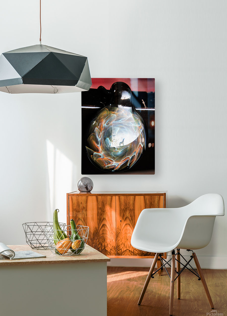ReflectionInGlassF002  HD Metal print with Floating Frame on Back