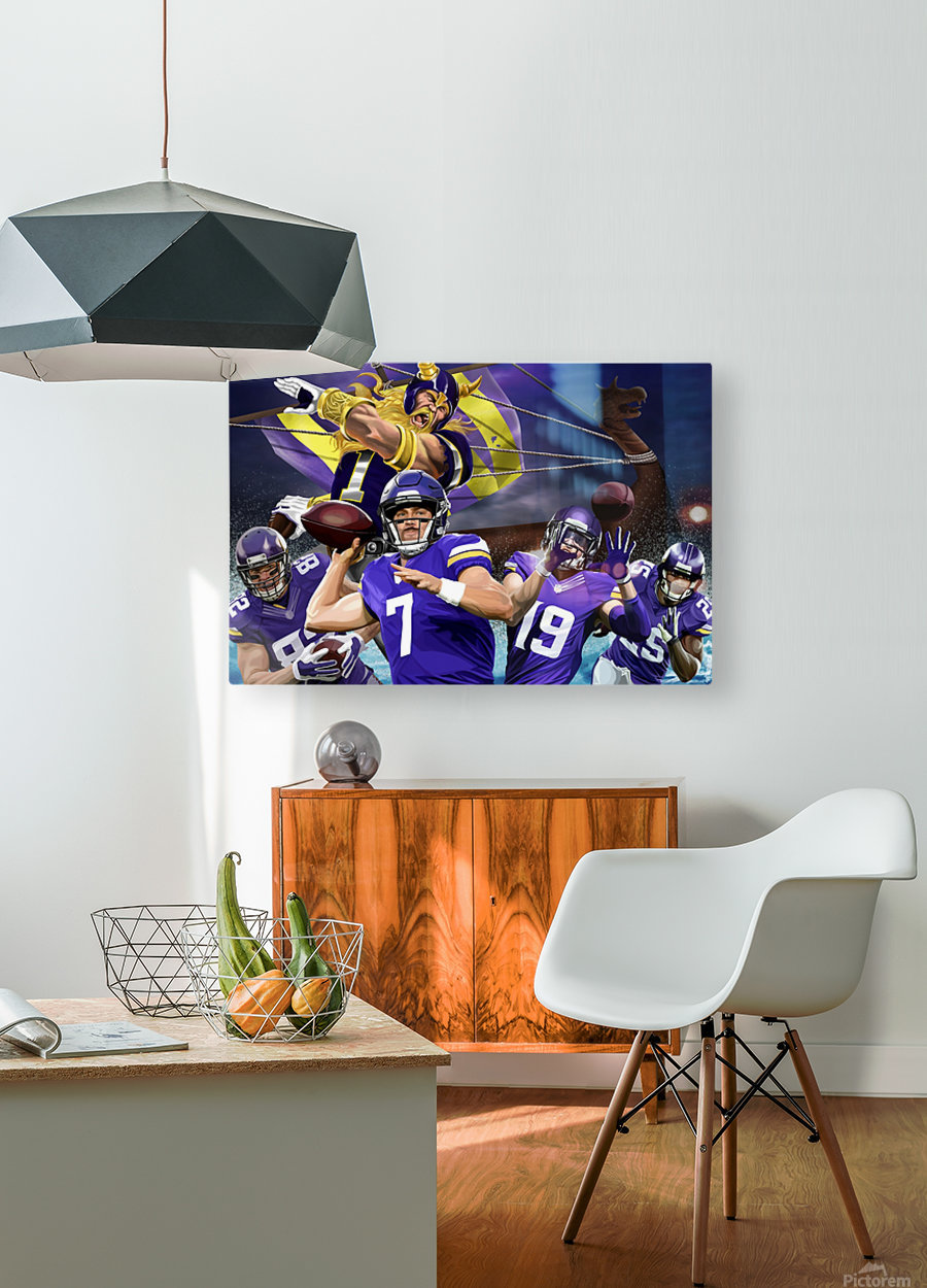 VIKINGS Football  HD Metal print with Floating Frame on Back