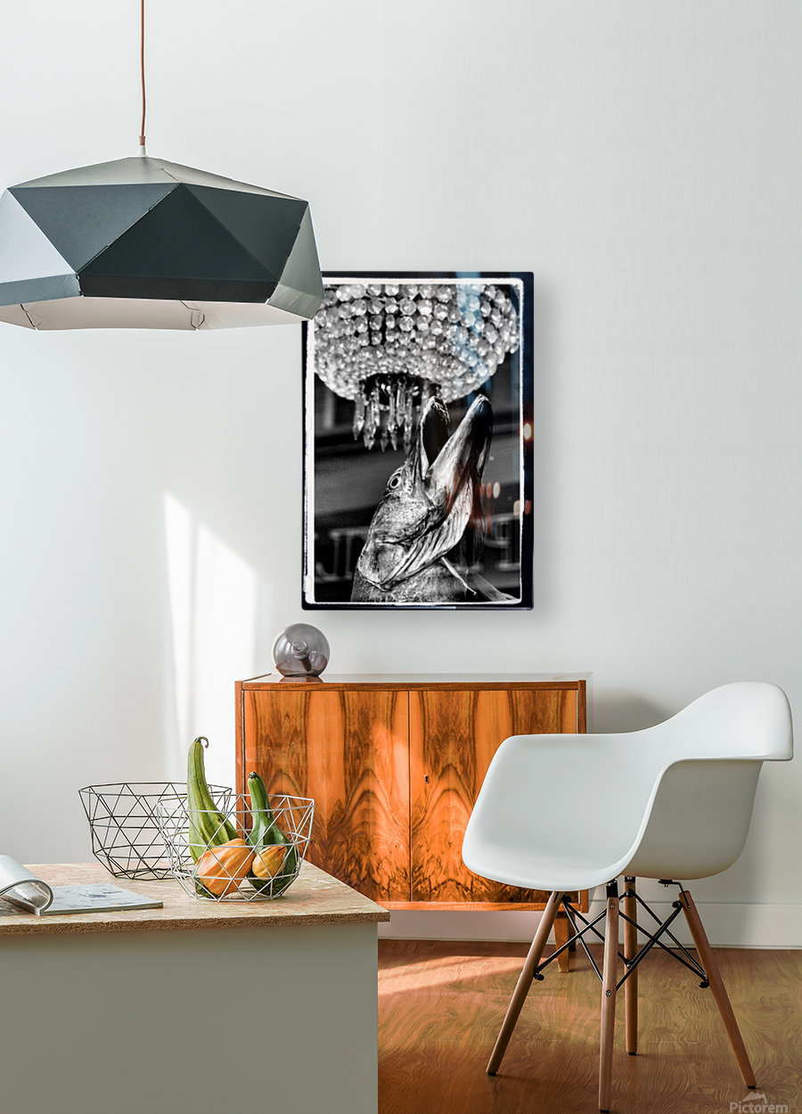 Pike  HD Metal print with Floating Frame on Back