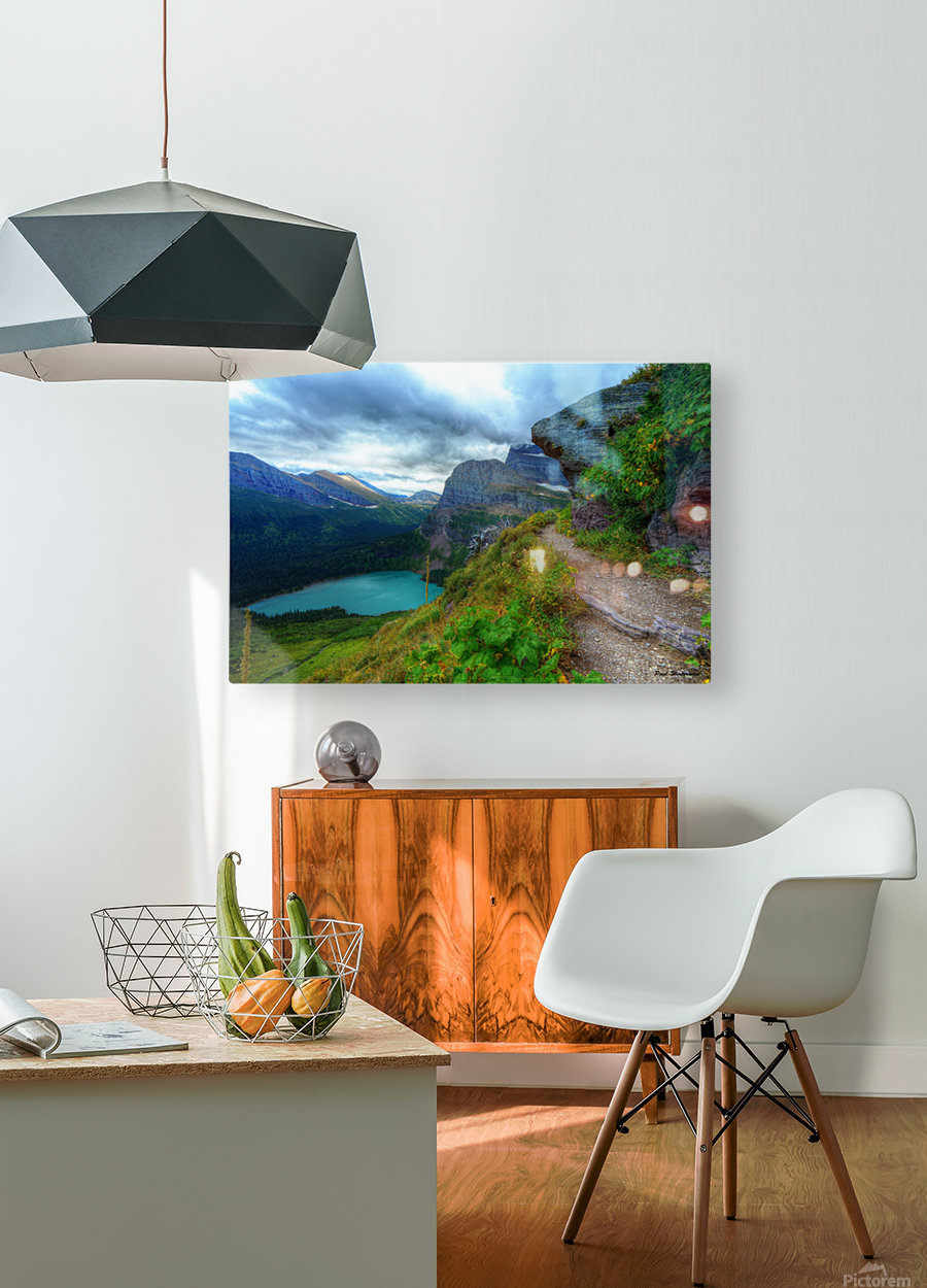 51 -2 Trail to Grinnell Glacier  HD Metal print with Floating Frame on Back