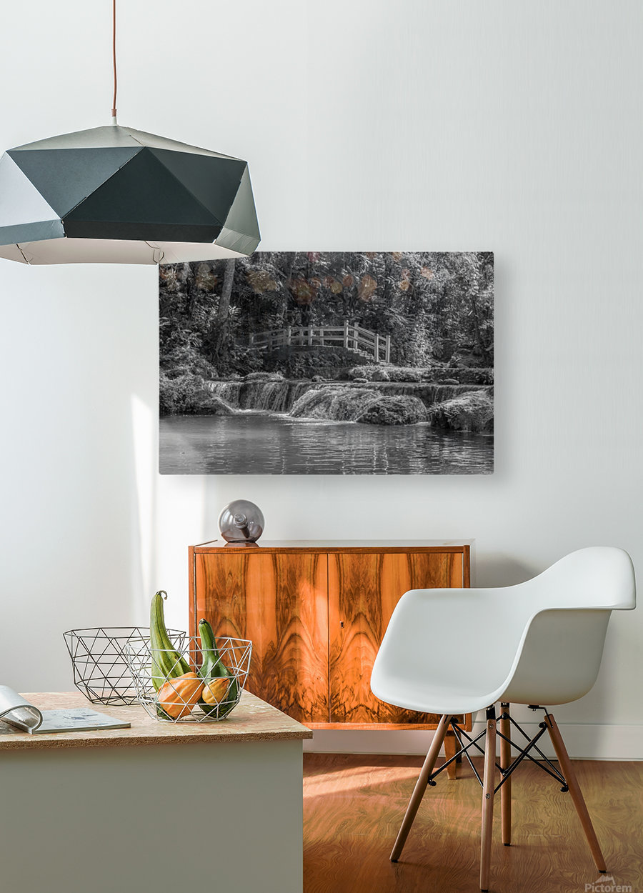 Flow  HD Metal print with Floating Frame on Back