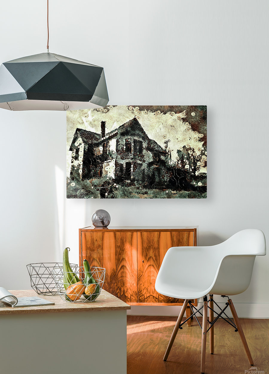Haunted candy house  HD Metal print with Floating Frame on Back