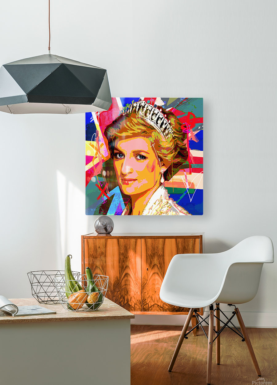 Diana X   HD Metal print with Floating Frame on Back