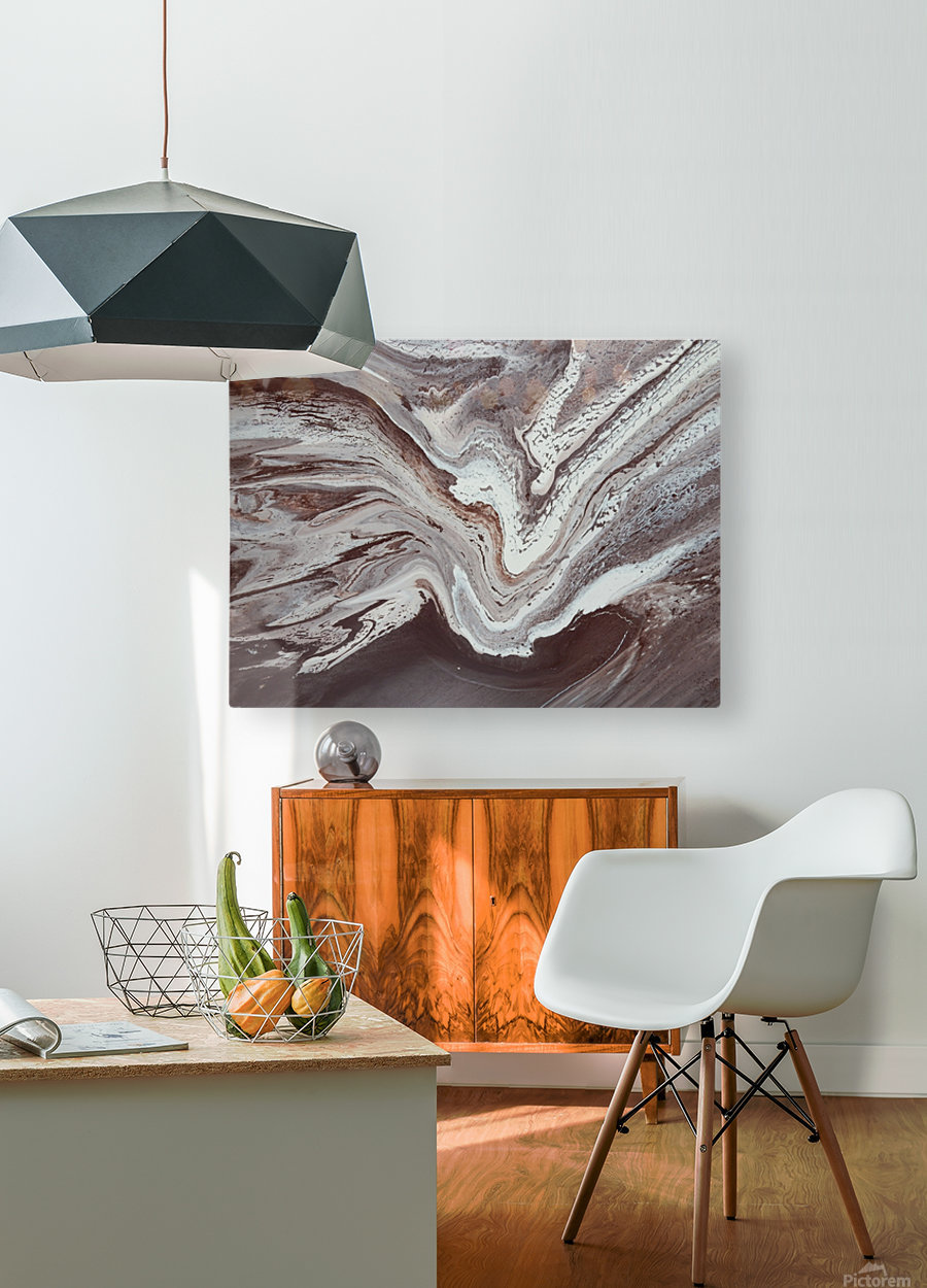 SPRING THAW  HD Metal print with Floating Frame on Back