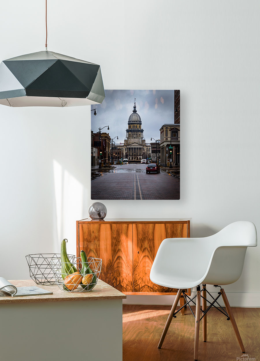 Illinois State Capitol  HD Metal print with Floating Frame on Back