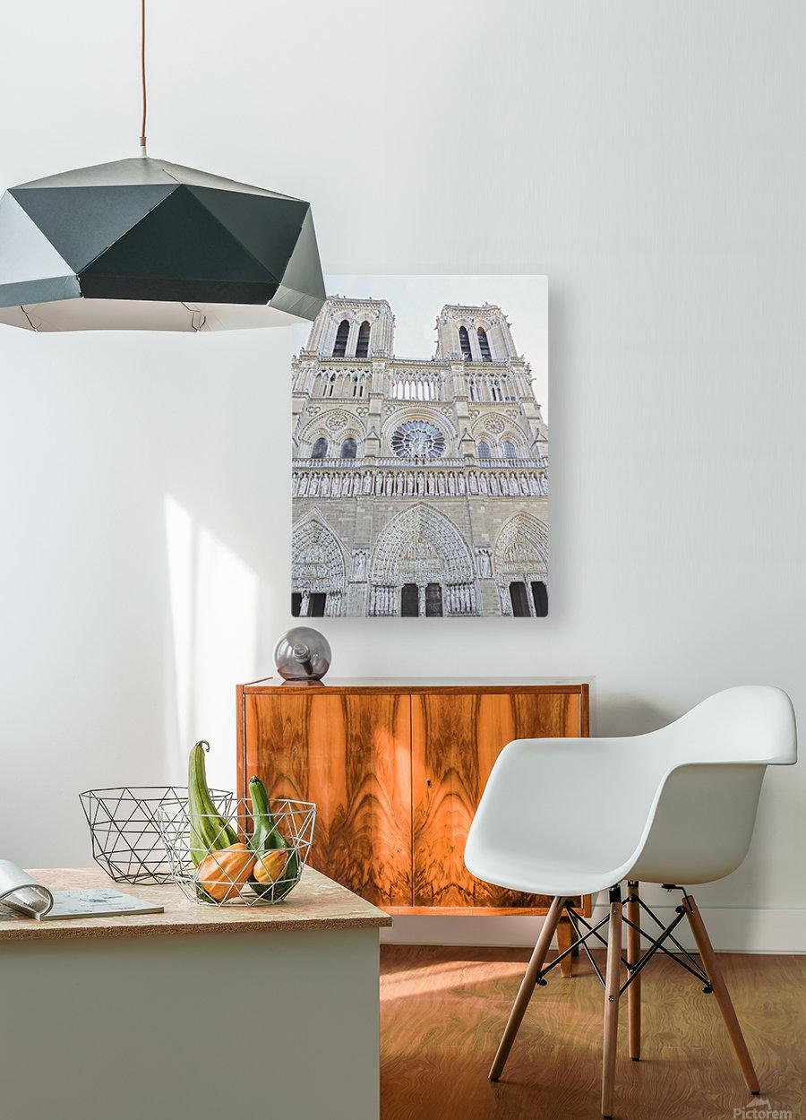 Notre Dame & Details  HD Metal print with Floating Frame on Back