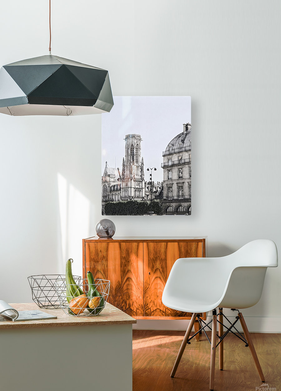 Notre Dame & Shade  HD Metal print with Floating Frame on Back