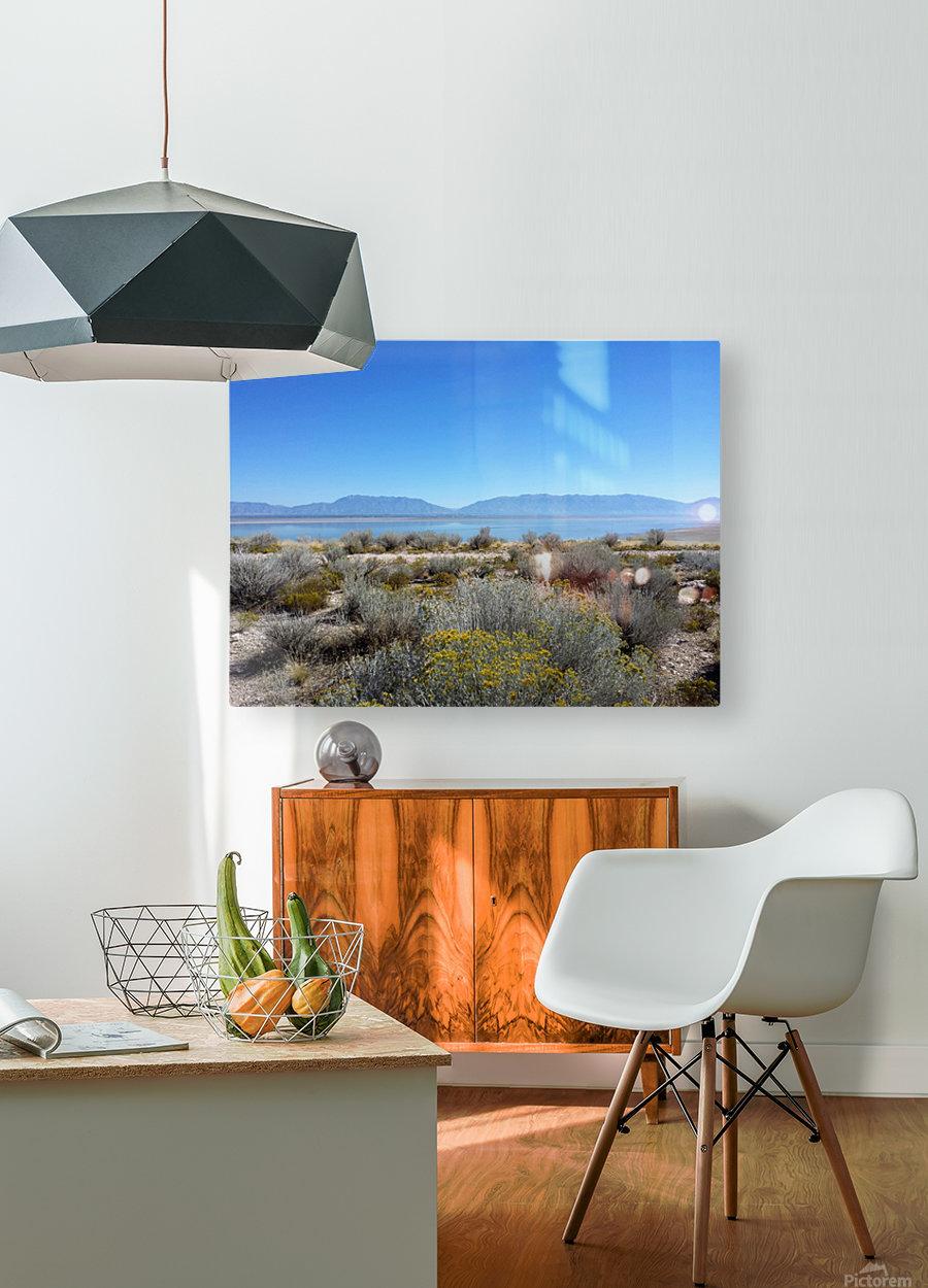 Salt Lake Vista  HD Metal print with Floating Frame on Back