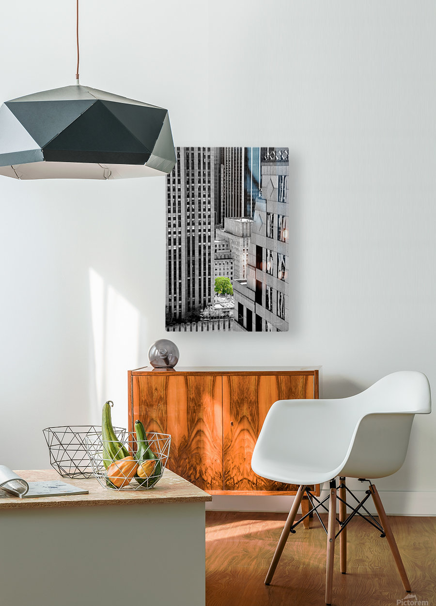 Forêt urbaine  HD Metal print with Floating Frame on Back