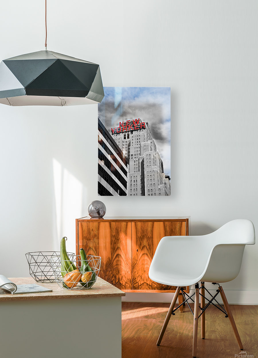 NewYorker  HD Metal print with Floating Frame on Back