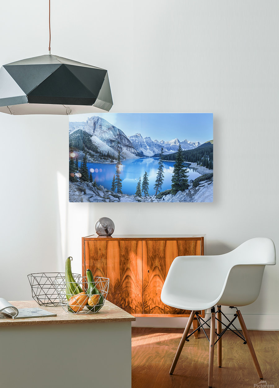 Heavenly blue  HD Metal print with Floating Frame on Back