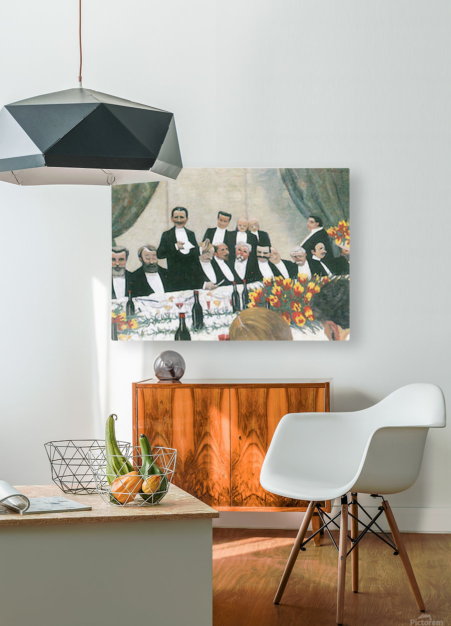 Toast by Felix Vallotton  HD Metal print with Floating Frame on Back