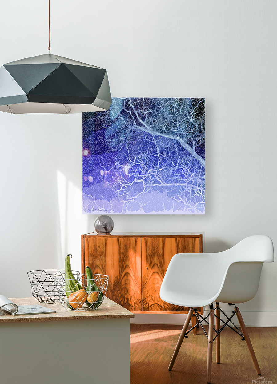 TreeBranches2  HD Metal print with Floating Frame on Back