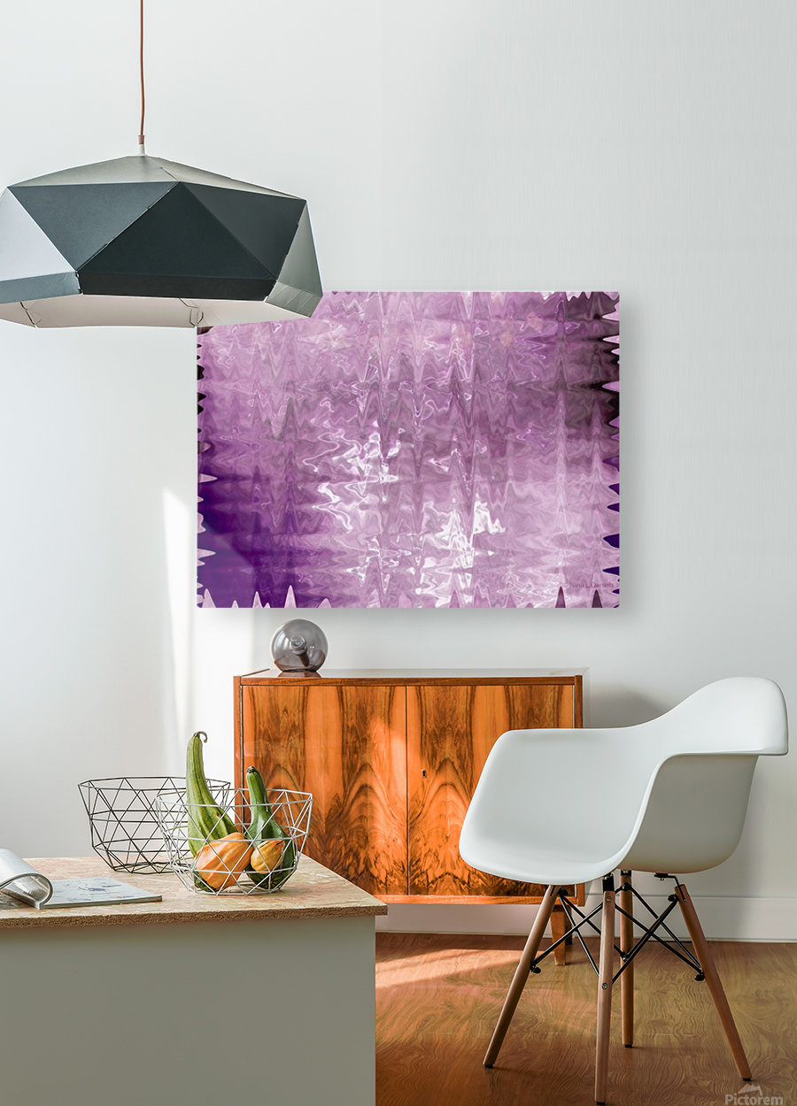 PurplePassion Wave  HD Metal print with Floating Frame on Back