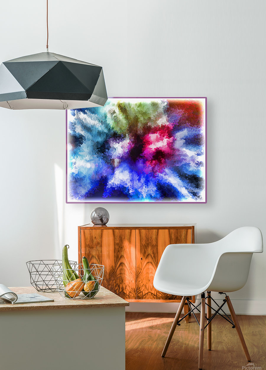 Mind Splash  HD Metal print with Floating Frame on Back