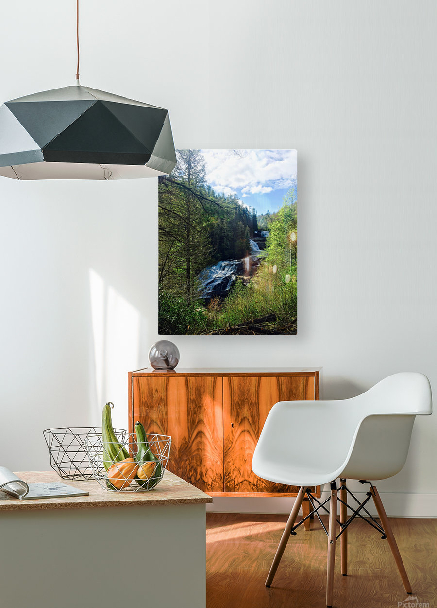 Waterfall Delight  HD Metal print with Floating Frame on Back