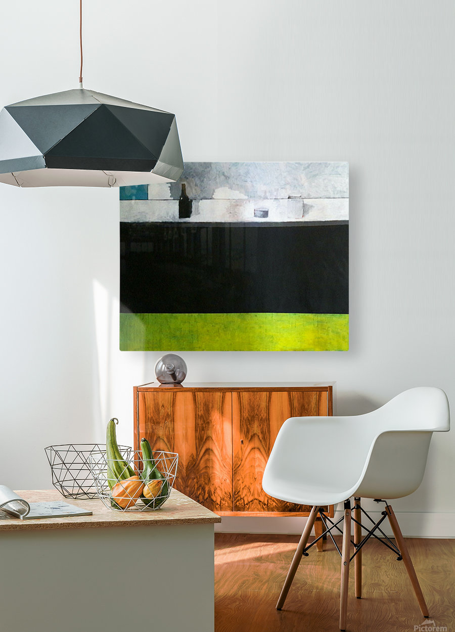 Green Line Still Life  HD Metal print with Floating Frame on Back