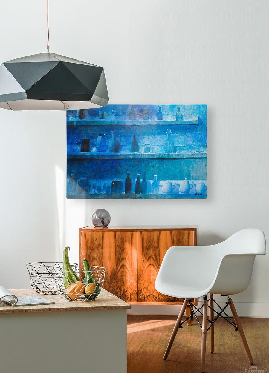 Still Life in Blue  HD Metal print with Floating Frame on Back