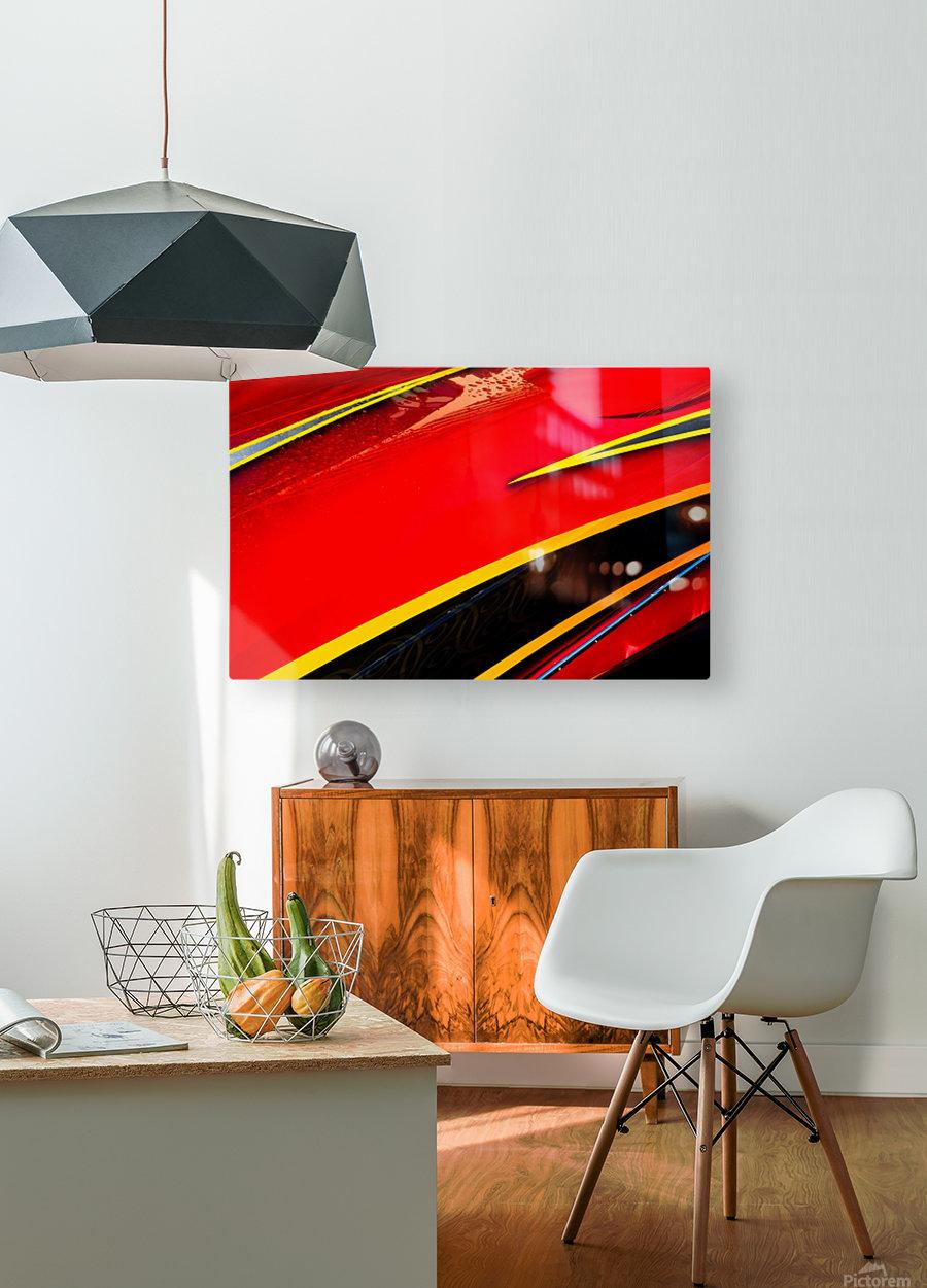 Angled  HD Metal print with Floating Frame on Back