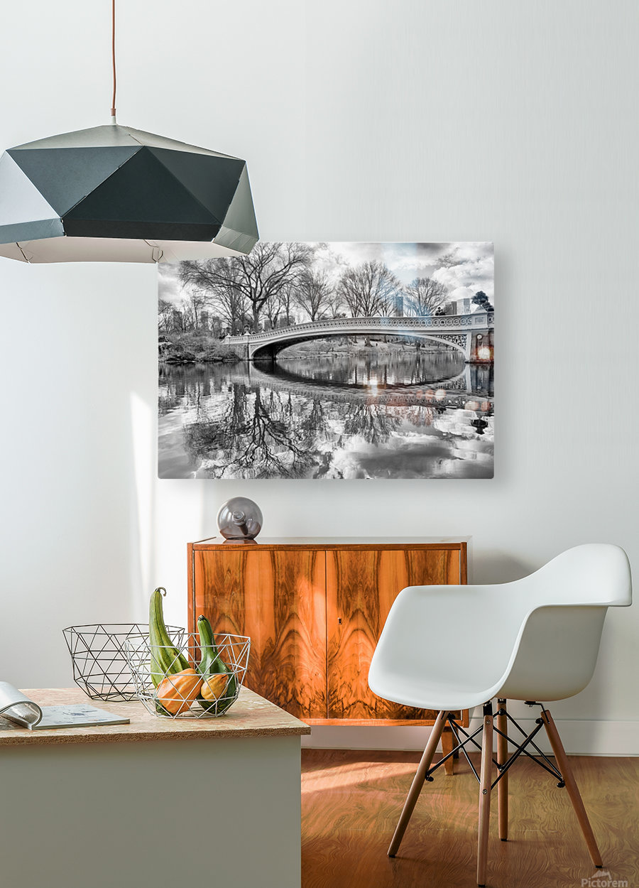 Bow Bridge  HD Metal print with Floating Frame on Back