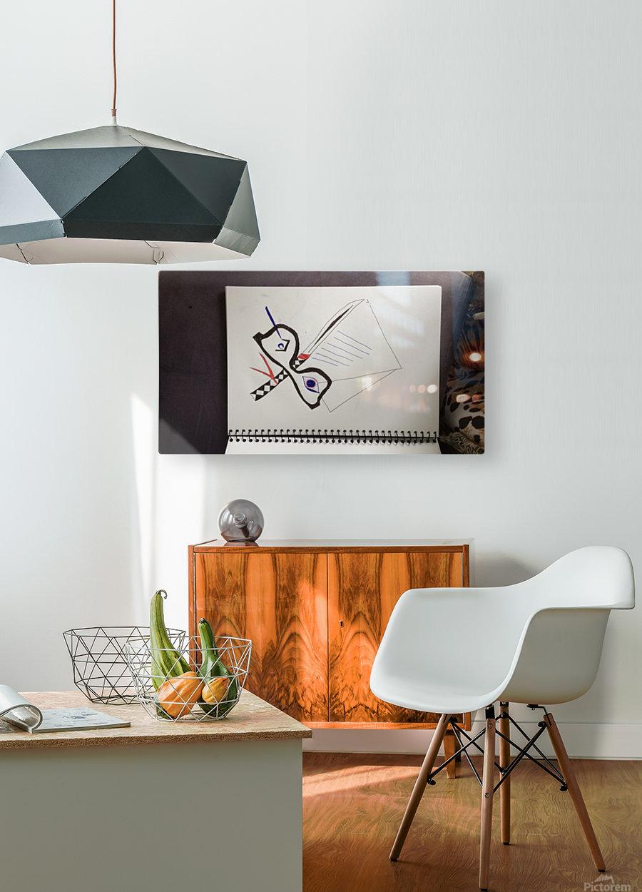 Tattoo studio design  HD Metal print with Floating Frame on Back