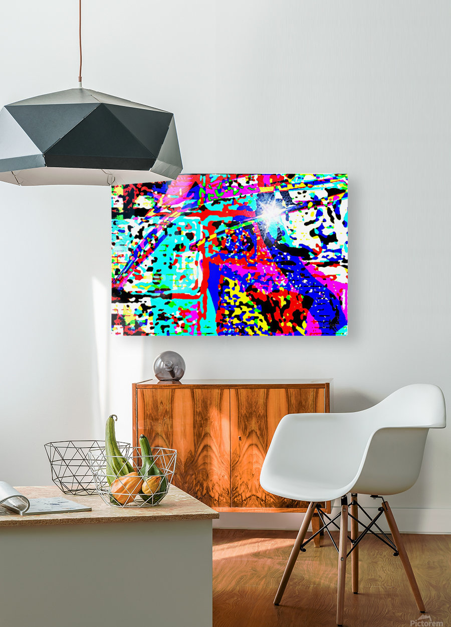 Third Eye  HD Metal print with Floating Frame on Back