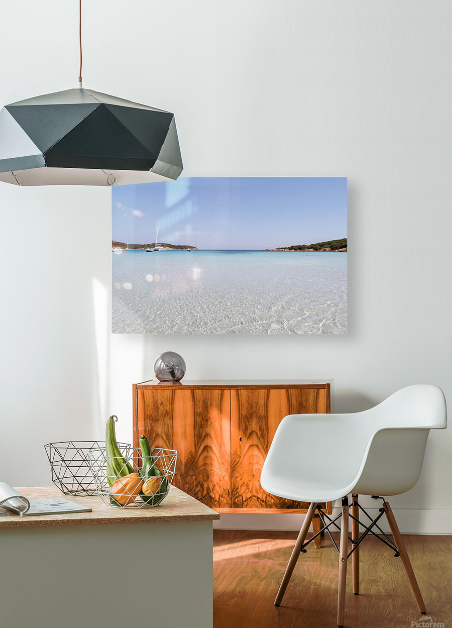 Rondinara beach in Corse  HD Metal print with Floating Frame on Back