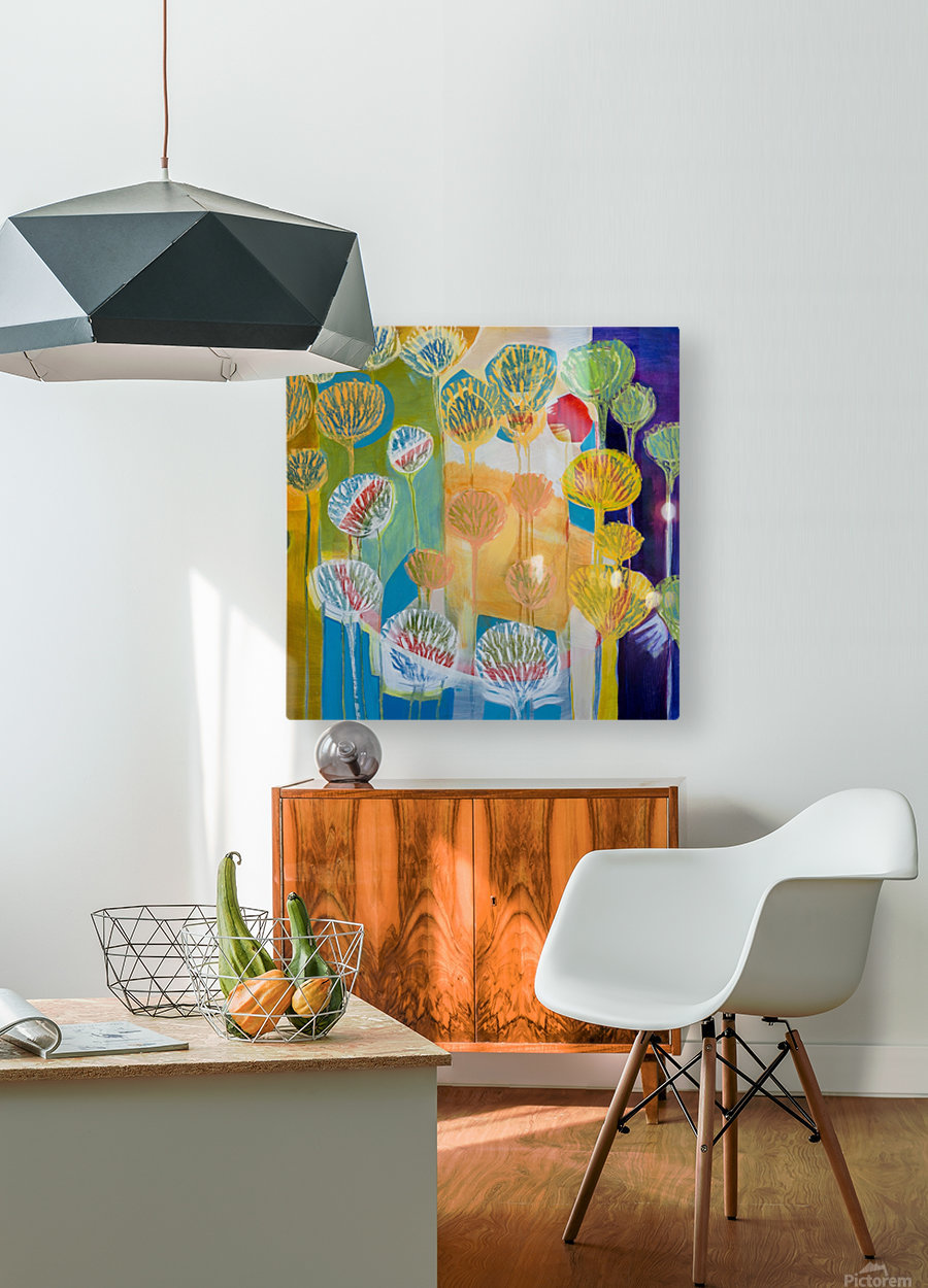 Seed Circle  HD Metal print with Floating Frame on Back