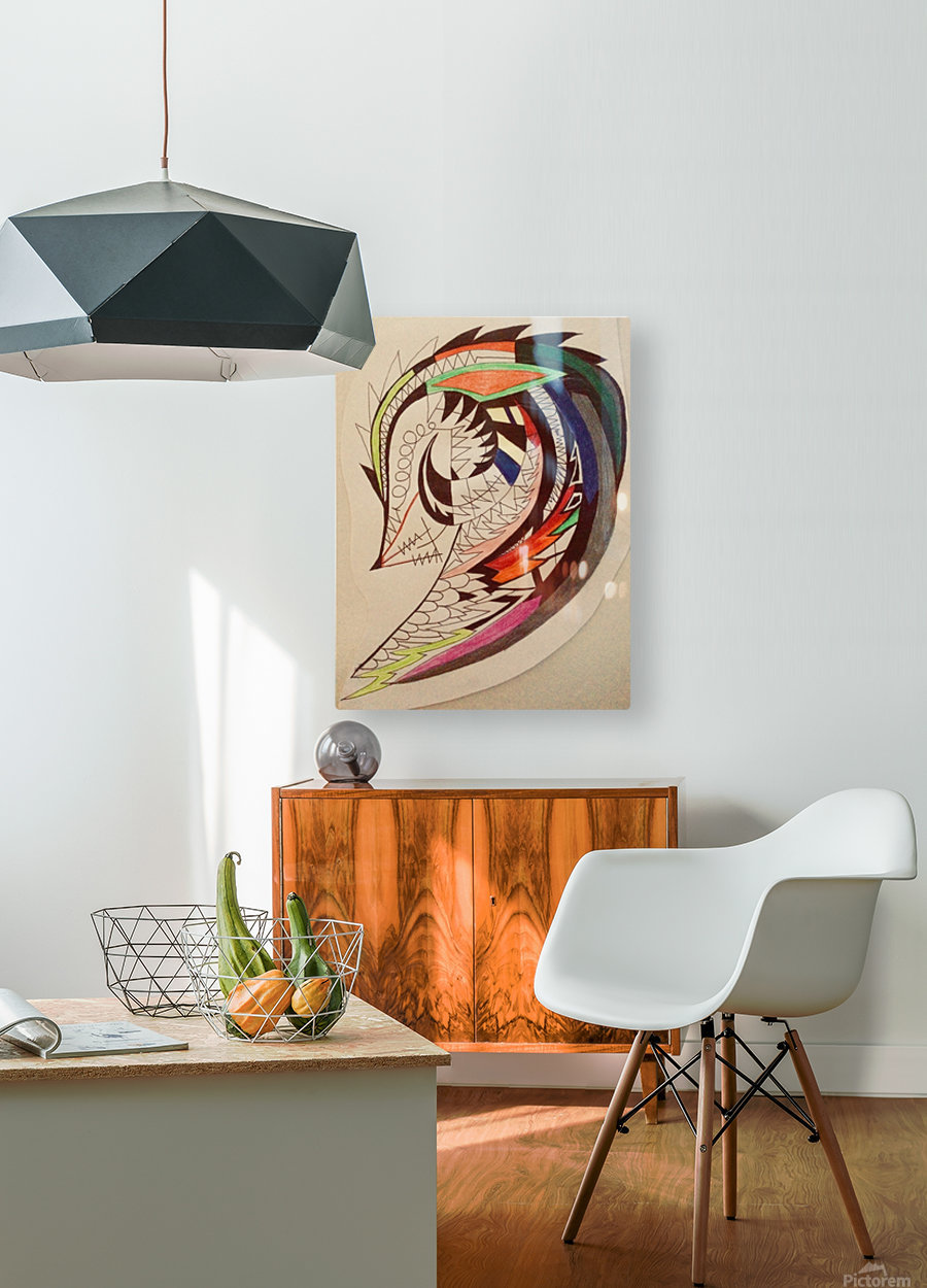 Warrior Wings  HD Metal print with Floating Frame on Back