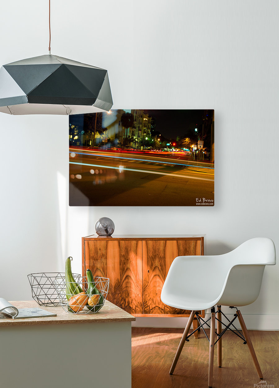 fast lights  HD Metal print with Floating Frame on Back