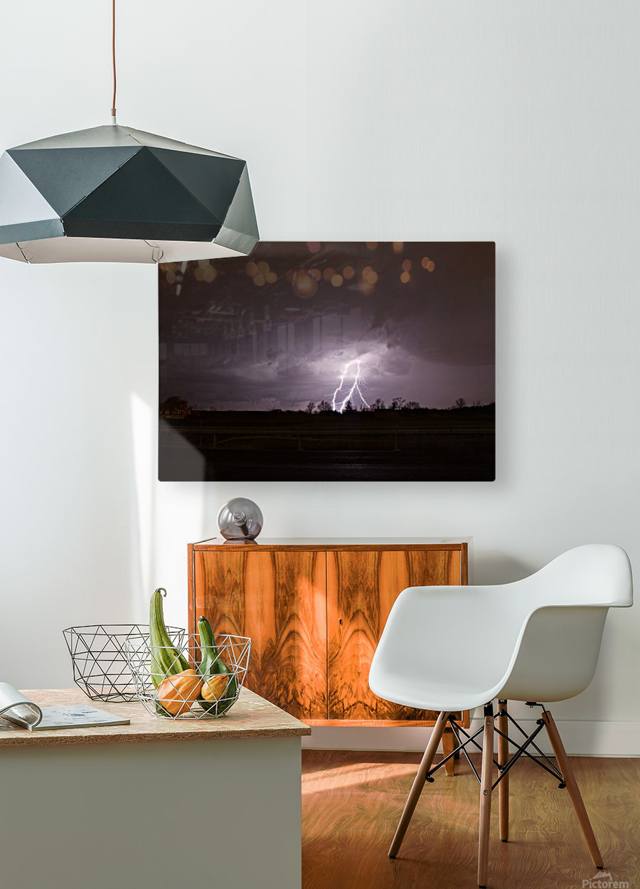 Summer Storm  HD Metal print with Floating Frame on Back