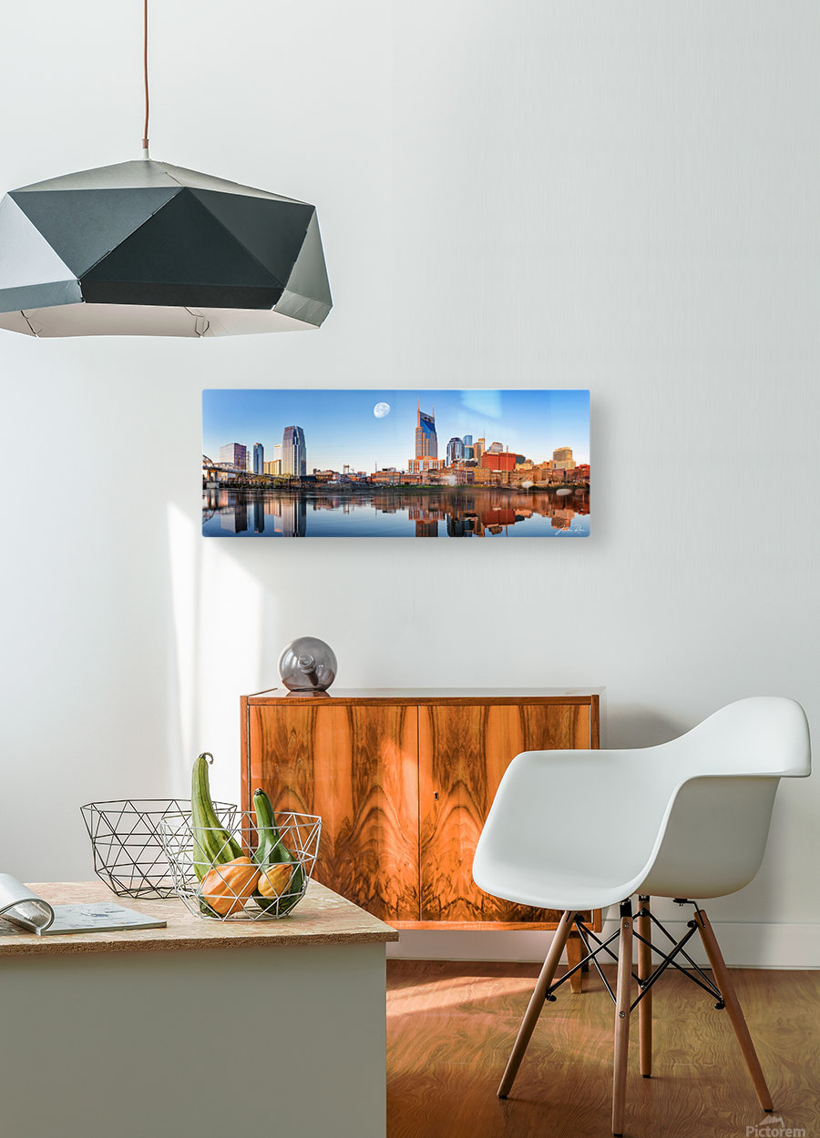 Nashville Skyline in the morning  HD Metal print with Floating Frame on Back