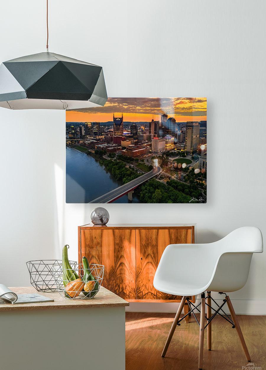 Nashville Sunset  HD Metal print with Floating Frame on Back
