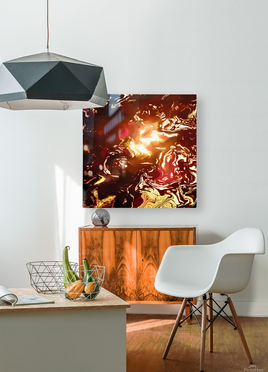Twisted Sunset  HD Metal print with Floating Frame on Back