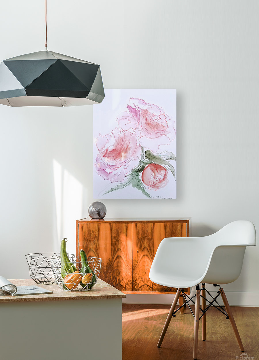 Flowers of Happiness  HD Metal print with Floating Frame on Back