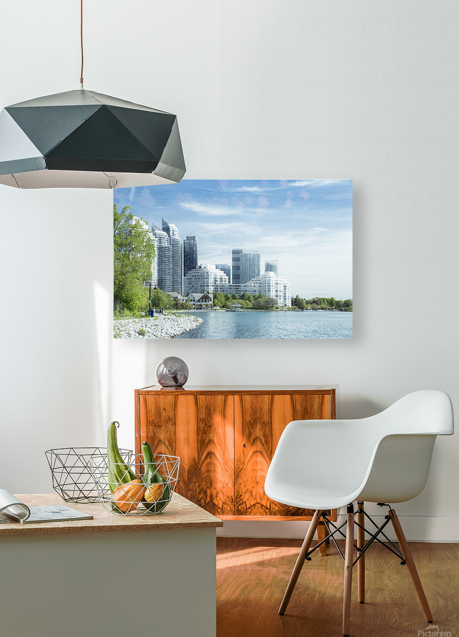 Waterfront  HD Metal print with Floating Frame on Back