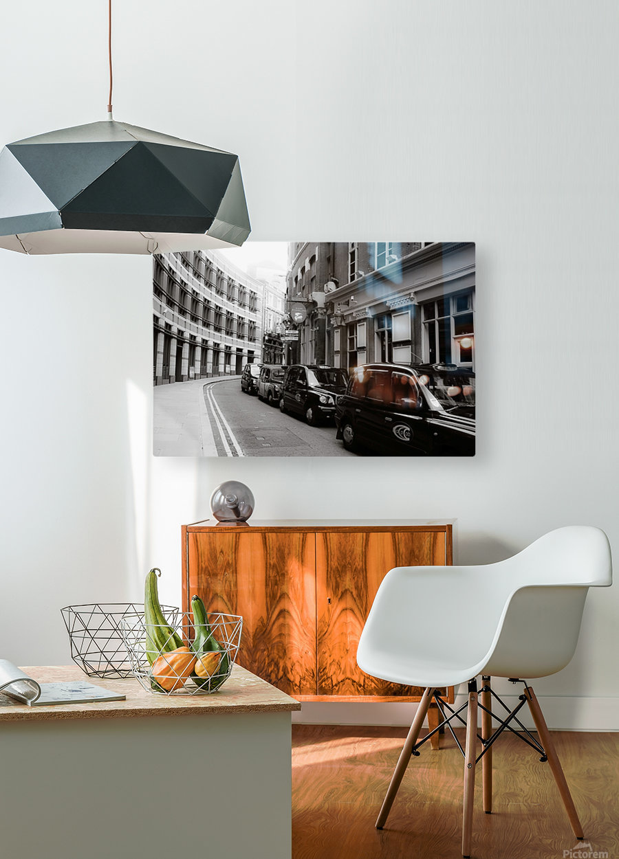 Cabs  HD Metal print with Floating Frame on Back
