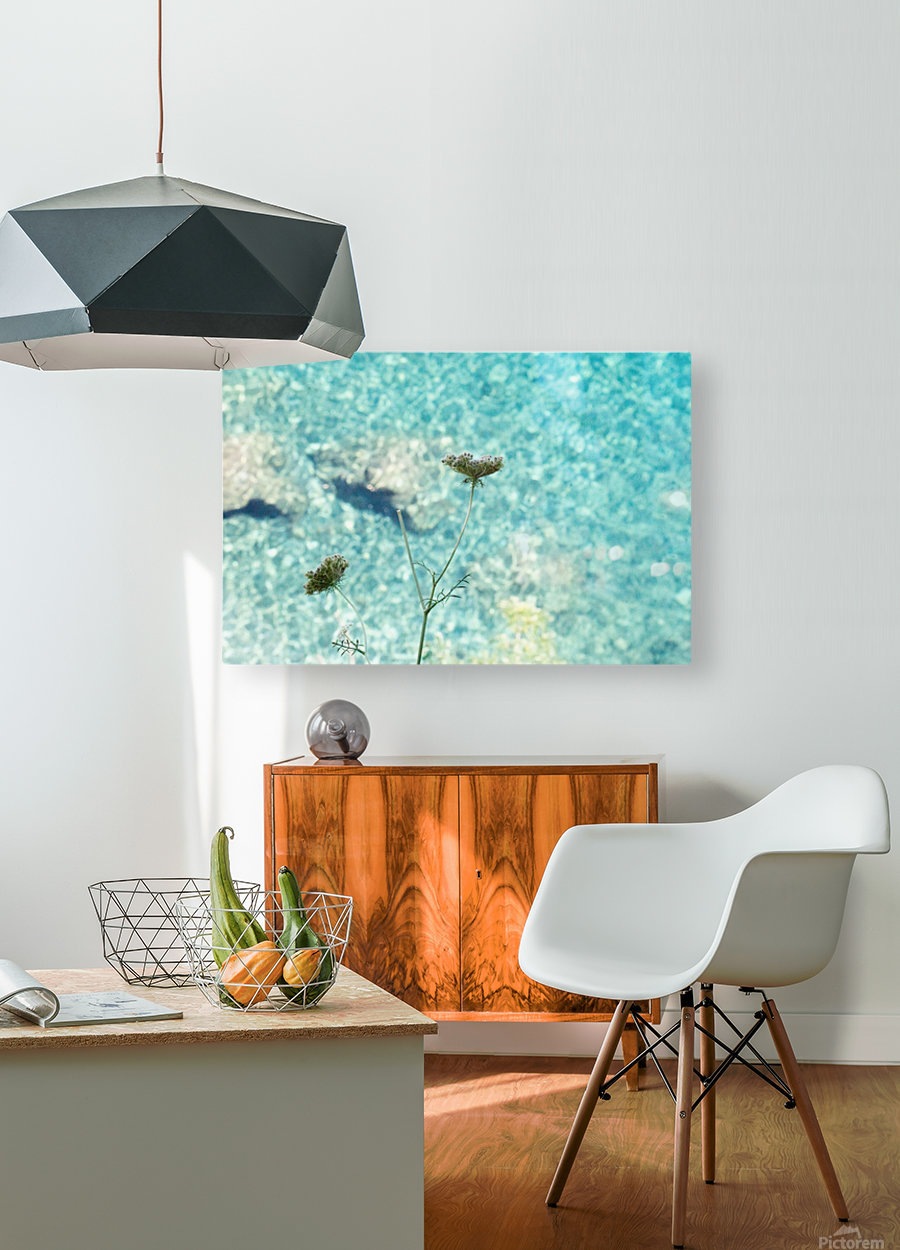 Flowers on the sea  HD Metal print with Floating Frame on Back